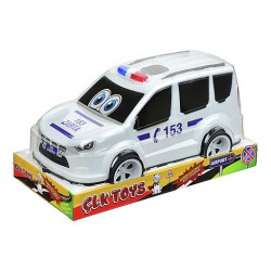 police car with stick (vacuum)
